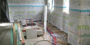 Isolation des murs Projection de mousse polyuréthane (PUR) à Lasne